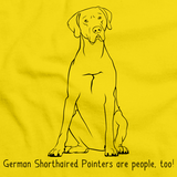 GERMAN SHORTHAIRED POINTERS ARE PEOPLE, TOO! Yellow Art Preview