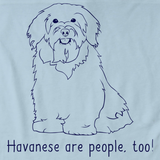 HAVANESES ARE PEOPLE TOO! Light blue Art Preview