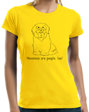 Ladies Yellow Havaneses are People, Too! - Havanese Owner Lover Dog Love Cute T-shirt