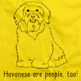 HAVANESES ARE PEOPLE TOO! Yellow Art Preview