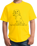 Youth Yellow King Charles Spaniel - King Charles Spaniel Owner Love T-shirt