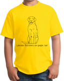Youth Yellow Labrador Retrievers are People, Too! - Labrador Owner Dog Lover T-shirt