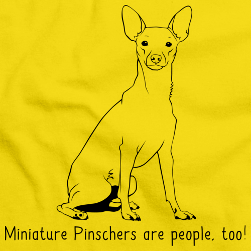 MINIATURE PINSCHERS ARE PEOPLE TOO! Yellow Art Preview