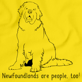 NEWFOUNDLANDS ARE PEOPLE TOO! Yellow Art Preview