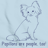 PAPILLONS ARE PEOPLE TOO! Light blue Art Preview
