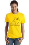 Ladies Yellow Pekingeses are People, Too! - Pekingese Owner Dog Lover Cute T-shirt