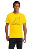 Standard Yellow Pekingeses are People, Too! - Pekingese Owner Dog Lover Cute T-shirt