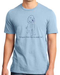Standard Light Blue Portuguese Water Dogs are People, Too! - Portuguese Water Dog T-shirt