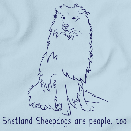 I Love my Shetland Sheepdog Light blue art preview
