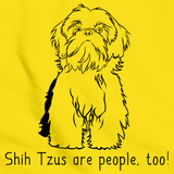 SHIH TZUS ARE PEOPLE, TOO! Yellow Art Preview