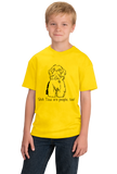 Youth Yellow Shih Tzus are People, Too! - Shih Tzu Owner Dog Lover Cute Gift T-shirt