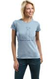 Ladies Light Blue Whippets are People, Too! - Whippet Owner Dog Lover Gift T-shirt