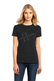 Ladies Black Alcohol Chemical Formula - Drinking Chemistry Diagram Alcohol T-shirt