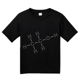 Youth Black Alcohol Chemical Formula - Drinking Chemistry Diagram Alcohol T-shirt