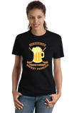 Ladies Black Our Drinking Team Has A Hockey Problem - Hockey Humor Drinking T-shirt