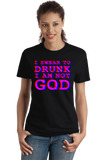 Ladies Black I Swear to Drunk I'm Not God (black edition) - Drunken Humor Fun