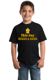 Youth Black This Guy <---- Needs A Beer - Drunk Humor Beer Party Funny Frat T-shirt
