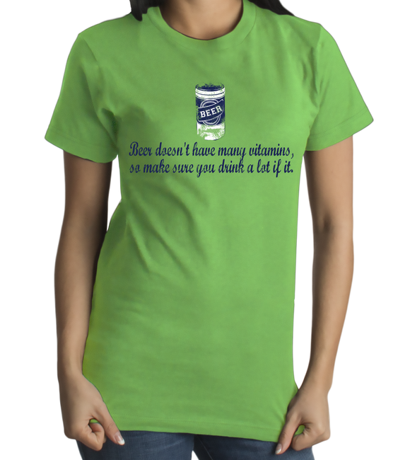 Standard Green Beer: Not Many Vitamins, Make Sure You Drink A Lot - Party T-shirt