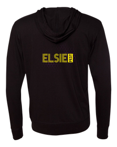 Lightweight Jersey Hooded Full Zip Black Elsie Fest 2017 Hooded