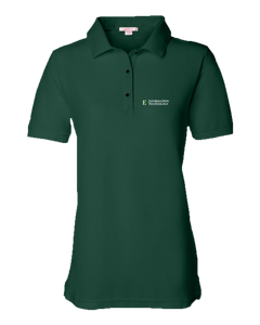 Ladies Pique Polo Forest Green EMU IT Short Sleeve Polo