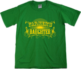 Youth Green Farmer's Daughter - Country Girl Pride Cute Farmer's Daughter