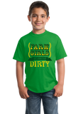 Youth Green Farm Girls Aren't Afraid to Get Dirty - Raunchy Country Humor T-shirt