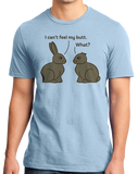 Standard Light Blue Chocolate Easter Bunny Conversation T-shirt