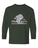 Youth Long Sleeve Forest Green Youth Splash Design Long Sleeve T-shirt