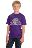 Youth Purple Youth Splash Design Short Sleeve T-shirt