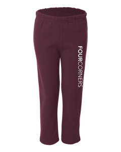 Youth Open Cuffed Sweatpant Maroon Youth Open Bottom Sweatpant Raglan
