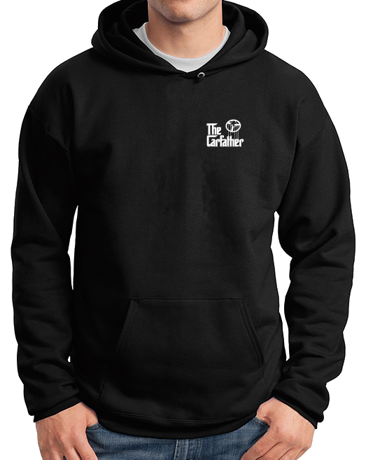 Pullover Hoodie Black The Carfather Black pullover-hoodie