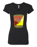 Sporty Girls V Neck Black Franco's European Black V-Neck T-shirt
