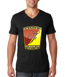 V Neck Black Franco's European Black V-Neck T-shirt