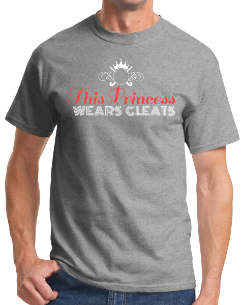 Standard Grey This Princess Wears Cleats - Field Hockey Soccer Player Ladies T-shirt