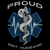 PROUD EMT HUSBAND Black art preview