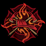 FIRE FIGHTER CREST Black art preview