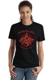 Ladies Black Proud Firefighter's Son - Son of Firefighter Dad Proud Gift T-shirt