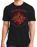 Standard Black Proud Firefighter's Son - Son of Firefighter Dad Proud Gift T-shirt