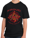 Youth Black Proud Firefighter's Son - Son of Firefighter Dad Proud Gift T-shirt