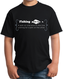 Youth Black Fishing Jerk - Fishing Humor Sportsman Fisherman Joke T-shirt