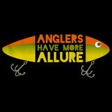 ANGLERS HAVE MORE ALLURE Black art preview