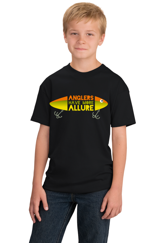 Youth Black Anglers Have More Allure - Fishing Humor Dad Gift Retirement Fun T-shirt