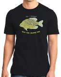 Standard Black Went Fishing, Caught This Crappie Fish - Fishing Humor Joke Dad T-shirt