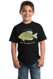 Youth Black Went Fishing, Caught This Crappie Fish - Fishing Humor Joke Dad T-shirt