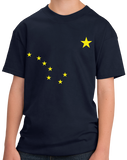 Youth Navy Alaska State Flag - Alaska Love Last Frontier Flag Pride State T-shirt