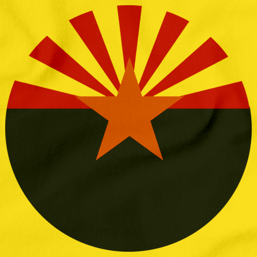 Arizona State Flag Yellow Art Preview