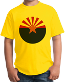 Youth Yellow Arizona State Flag - Arizona State Flag Desert Sedona Phoenix T-shirt