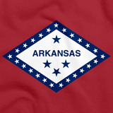 Arkansas State Flag Tee Red Art Preview