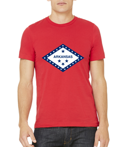 Standard Red Arkansas State Flag - Arkansas Fan Native Flag Gift Cool T-shirt