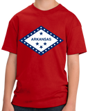 Youth Red Arkansas State Flag - Arkansas Fan Native Flag Gift Cool T-shirt